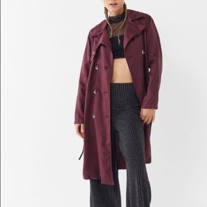 Urban Outfitters Trench Coat Belted Double Breast